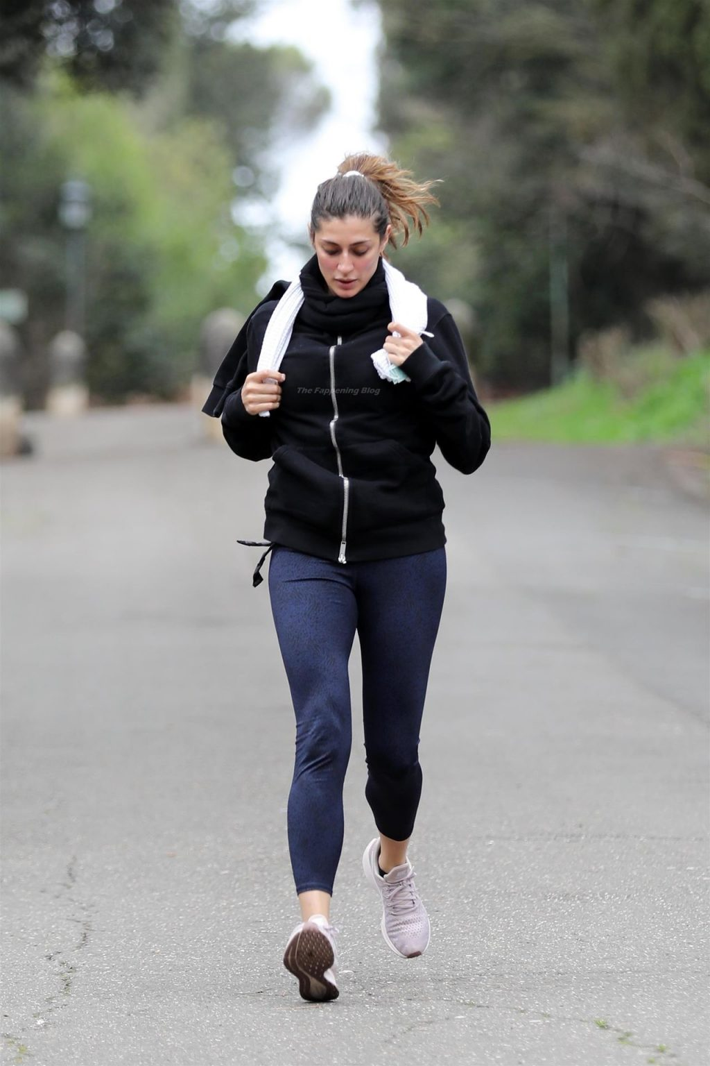 Elisa Isoardi Works Out in a Park in Rome (22 Photos)