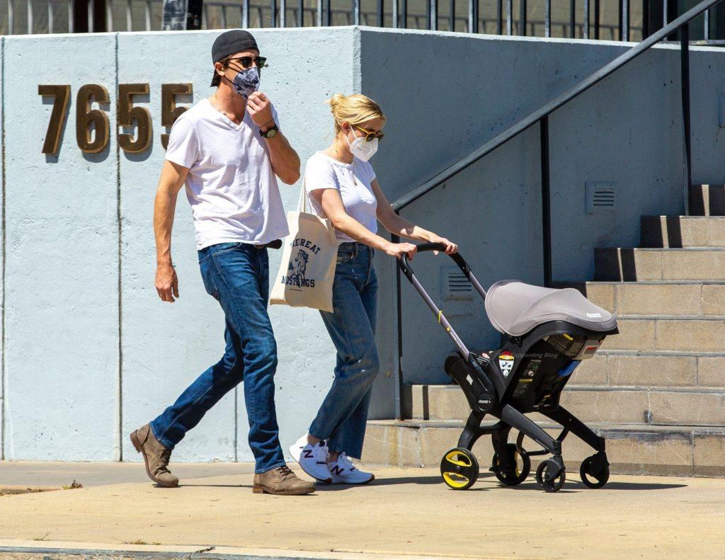 Emma Roberts & Garrett Hedlund Take Rhodes on a Walk to a Coffee Shop (39 Photos)