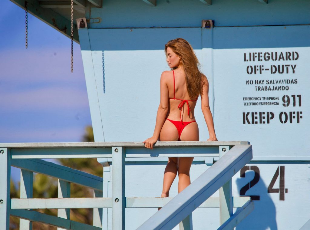 Haley Kalil Flaunts Her Perfect Physique on Set of Baywatch Inspired Photoshoot in Malibu (44 Photos)