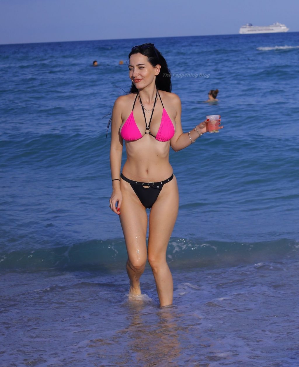 Iva Kovacevic Shows Off Her Hot Body in a Bikini on the Beach in Miami