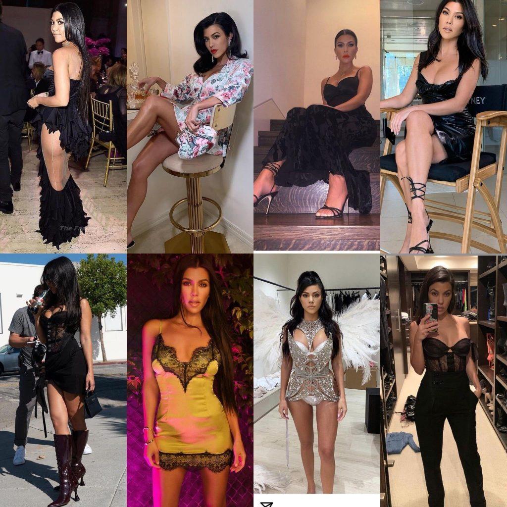 Kourtney Kardashian Sexy (3 Collage Photos)