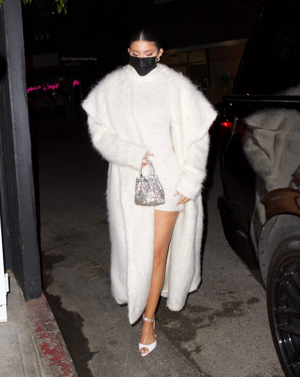 Kylie Jenner Shines in White for Dinner at The Nice Guy (16 Photos)
