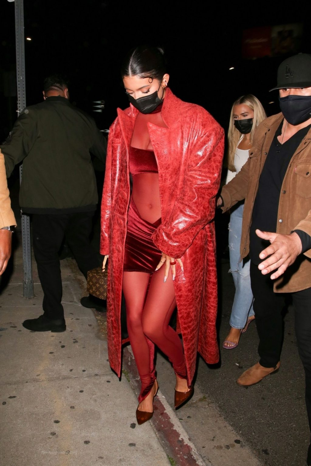 Busty Kylie Jenner Stands Out in Red in WeHo (11 Photos)
