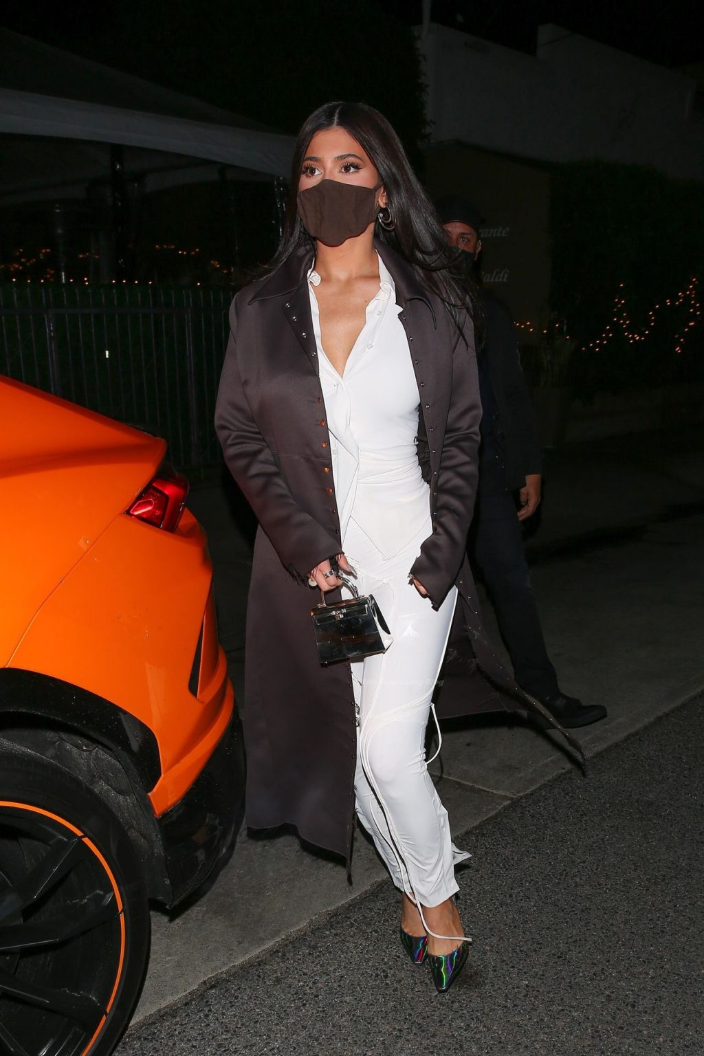 Kylie Jenner Shows Off Her Curvy Figure in White While Leaving Dinner in Santa Monica (72 Photos)