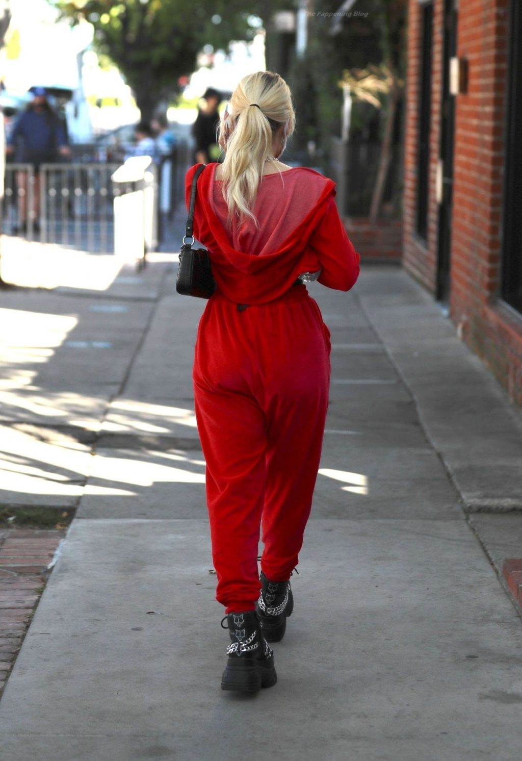 Lottie Moss is a Hottie in Red Putting on a Busty Display (11 Photos)