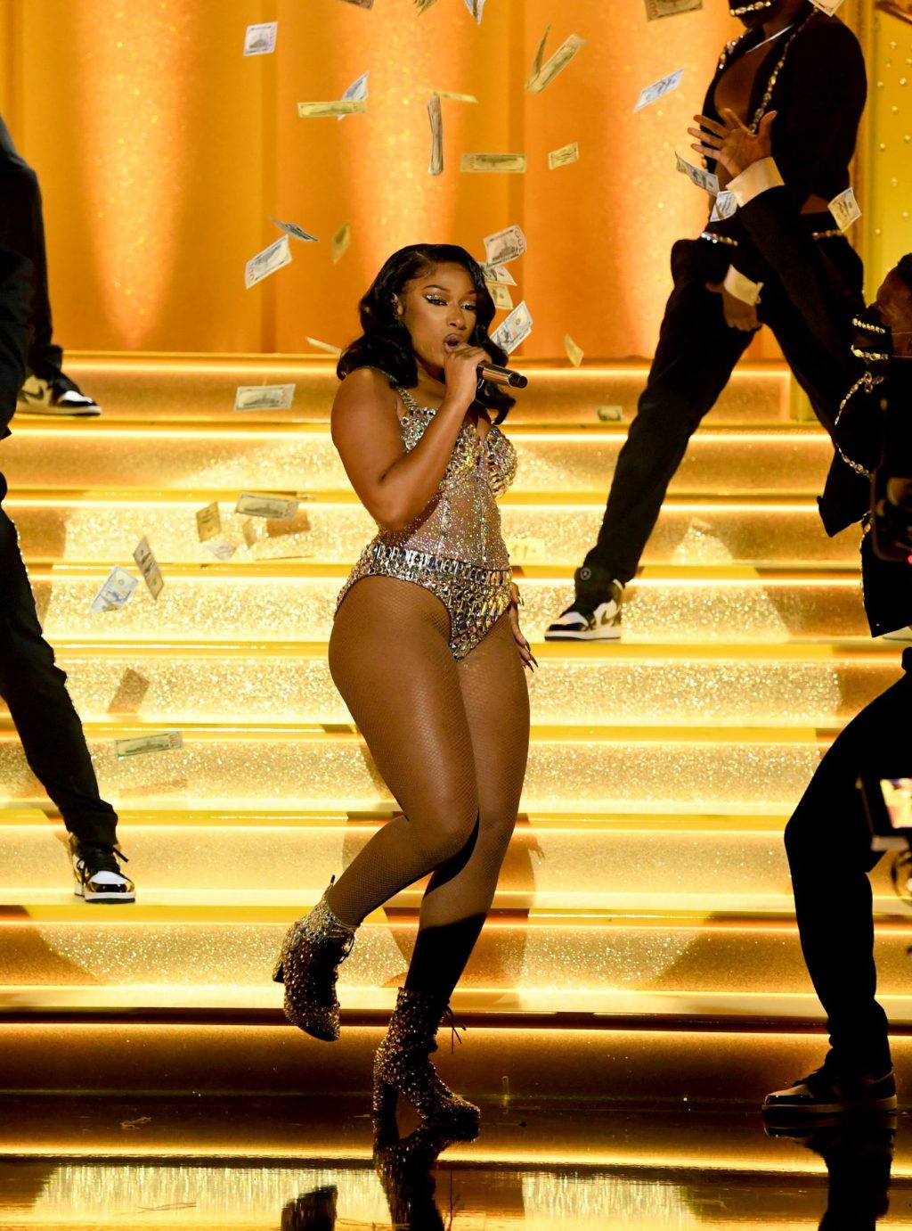 Megan Thee Stallion Displays Her Boobs, Butt and Legs at the 63rd GRAMMY Awards (49 Photos)