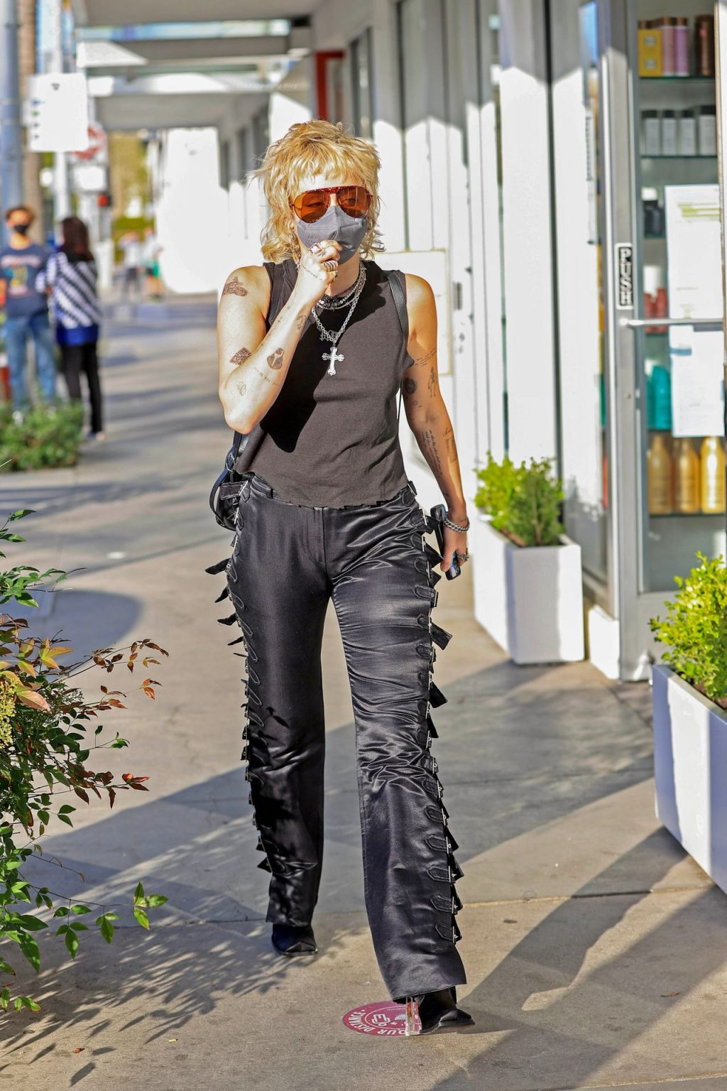 Braless Miley Cyrus Rocks a Stylish Outfit While out in Beverly Hills (11 Photos)