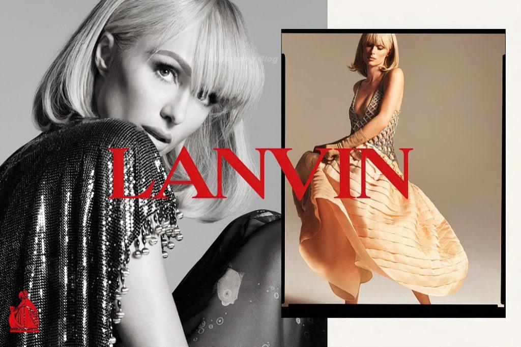 Paris Hilton Poses for Lanvin Spring / Summer 2021 Campaign (7 Photos)