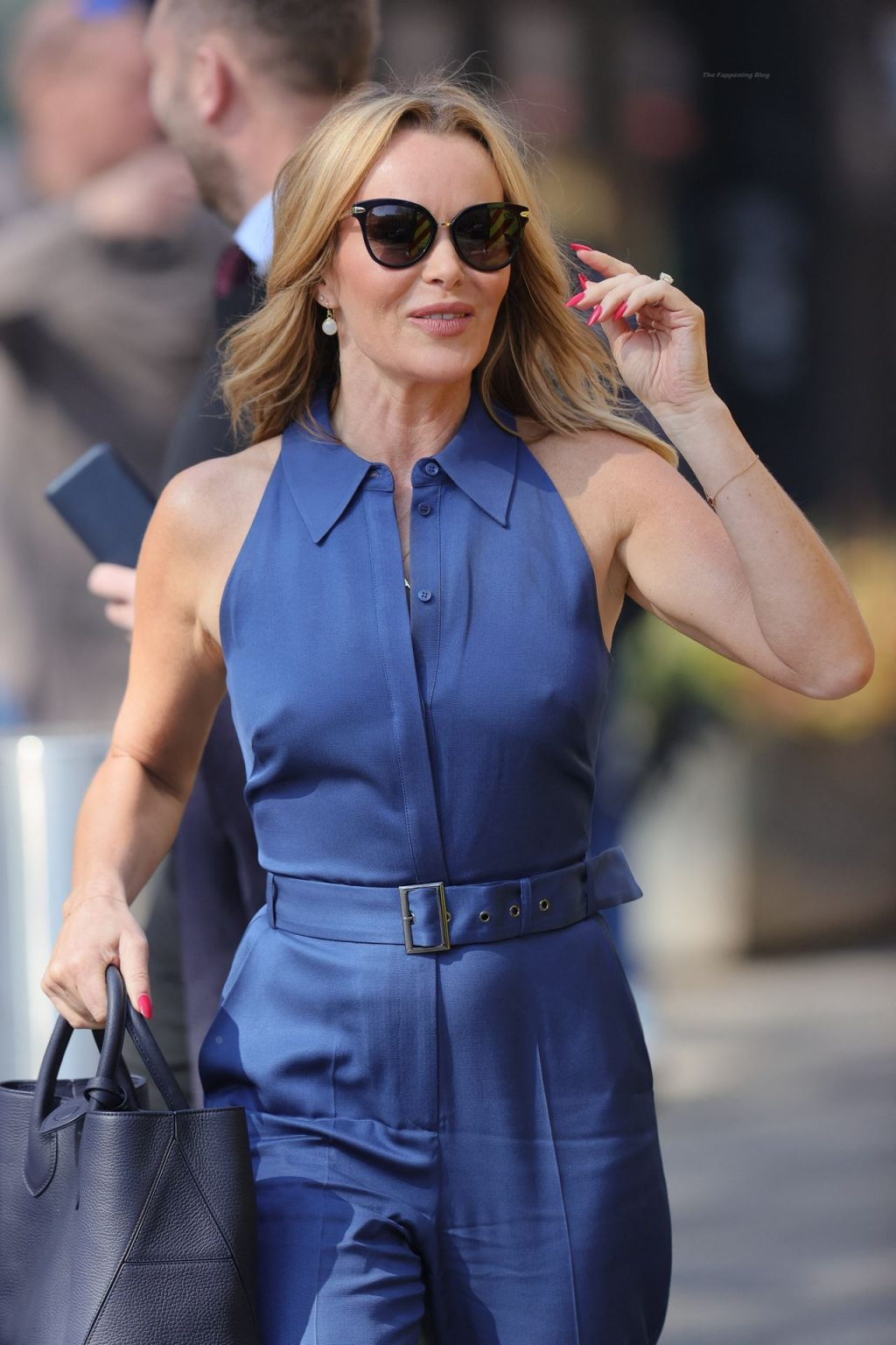 Amanda Holden Looks Chic In a Blue Jumpsuit at Heart Radio (58 Photos)