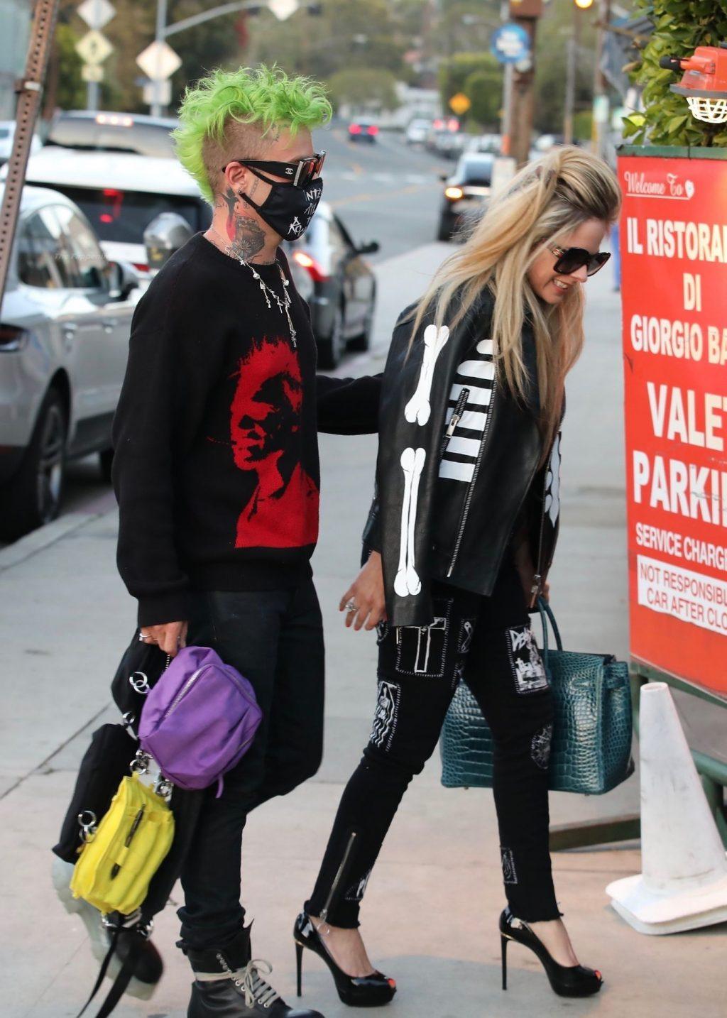 Avril Lavigne & Mod Sun Arrive for Dinner at Giorgio Baldi (60 Photos)