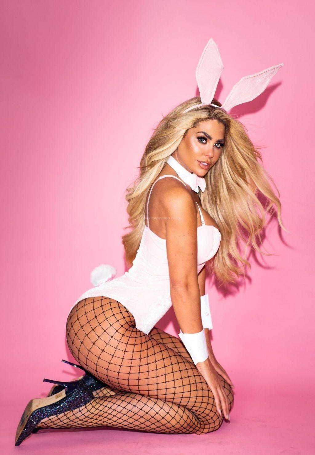 Bianca Gascoigne Strips Down to a Bunny Costume (12 Photos)