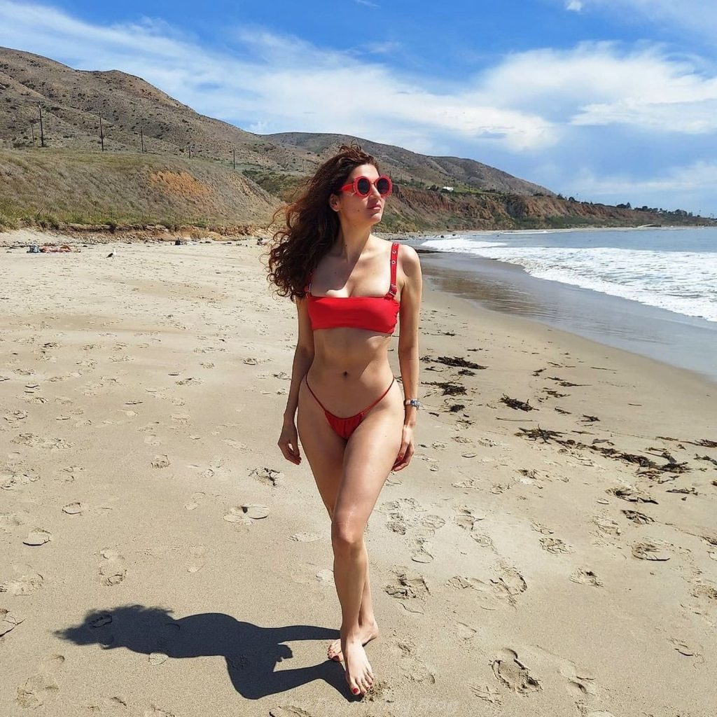 Blanca Blanco Slips Into a Hot Red Bikini in Malibu (32 Photos)