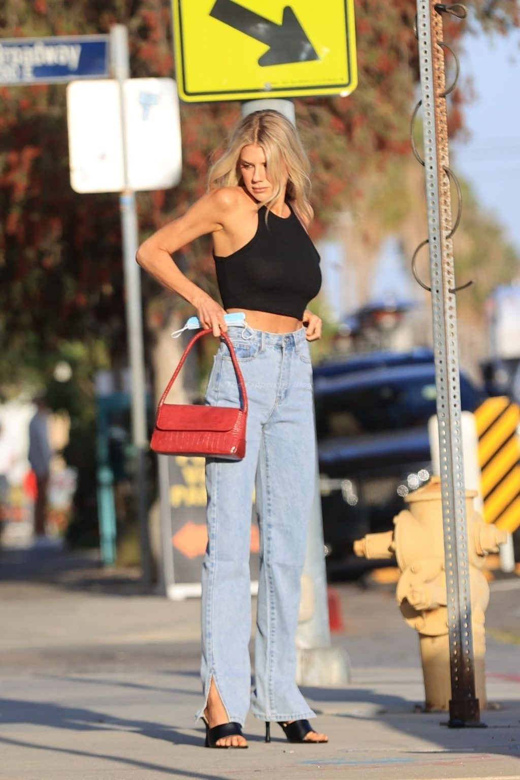 Charlotte McKinney Flaunts Her Slim Frame in a Nasty Gal Outfit (5 Photos)