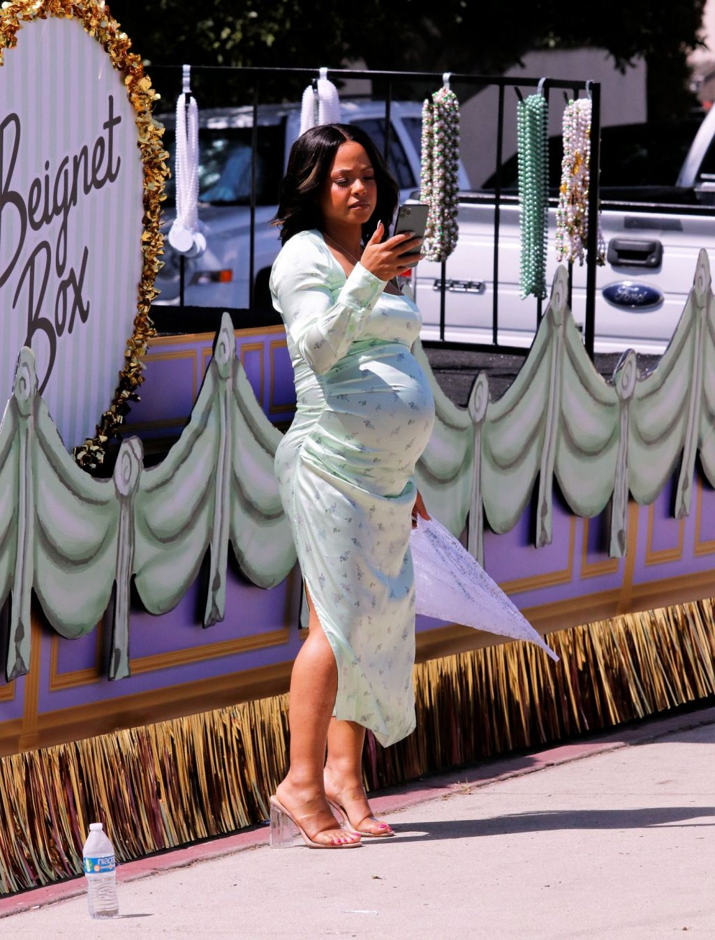 Christina Milian Shows Off Her Baby Bump Before Climbing Onto a Parade Float in LA (106 Photos)