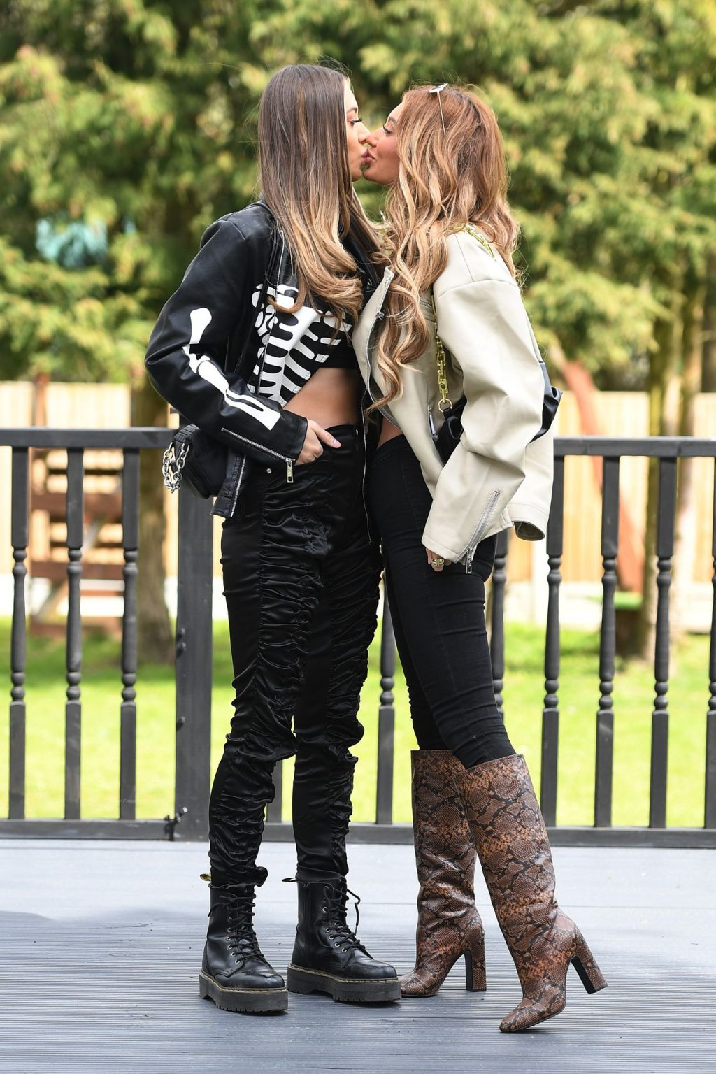 Demi Sims Poses with Francesca Farago in Brentwood (13 Photos)