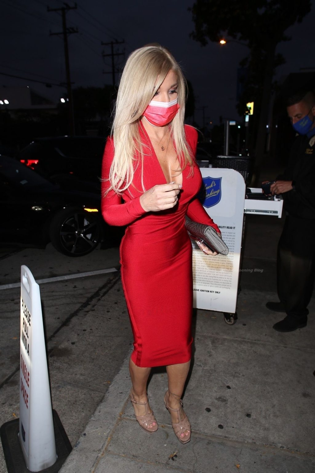 Busty Donna D'Errico is Seen at Craig's in WeHo (16 Photos)