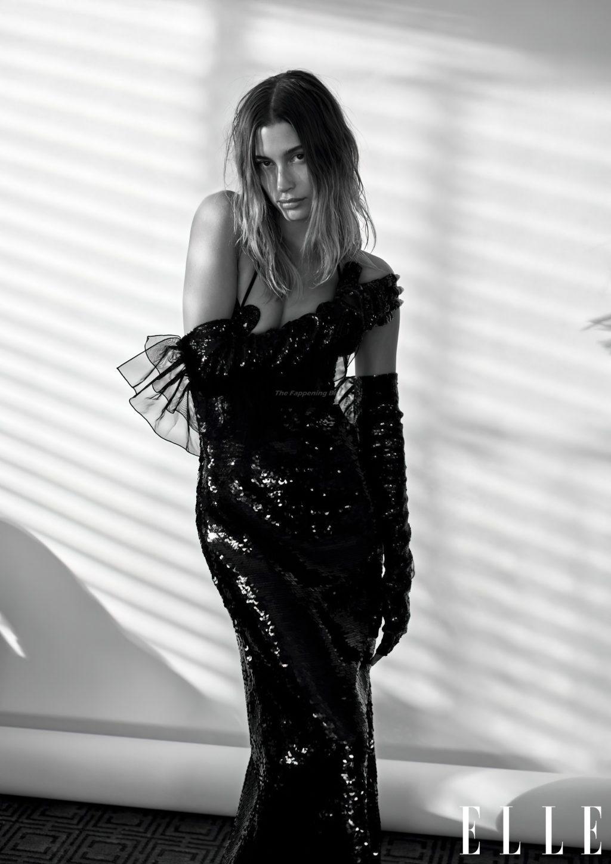 Hailey Bieber Sexy – ELLE Magazine (15 Photos)
