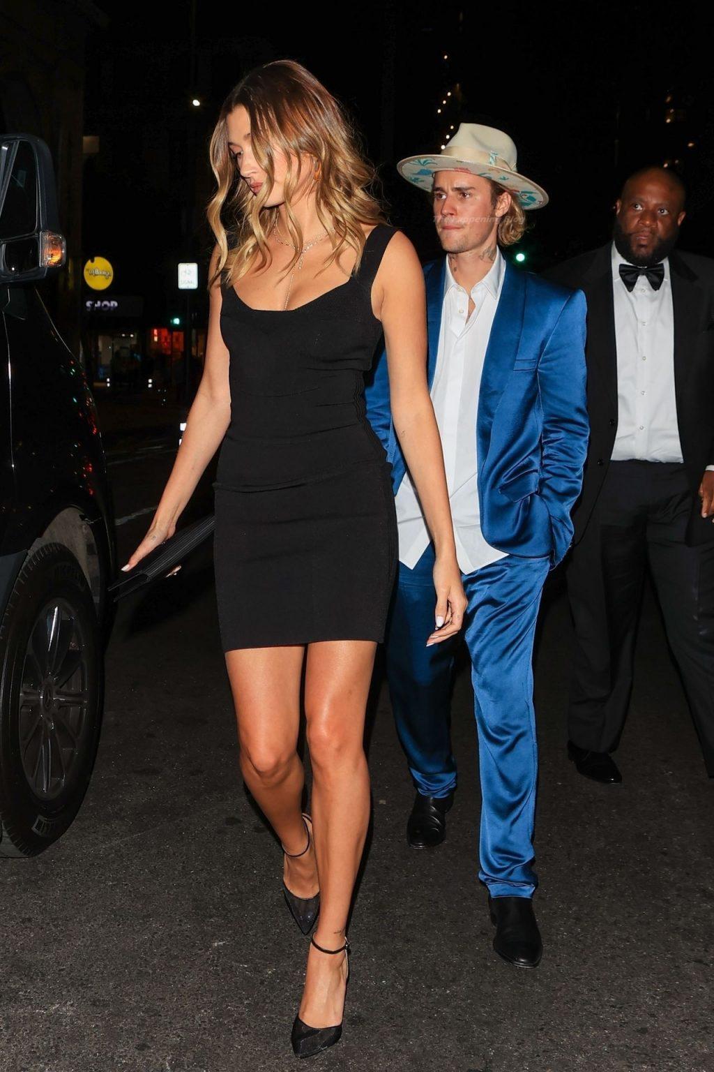 Justin and Hailey Bieber Attend Musician Harv's Wedding in LA (12 Photos)