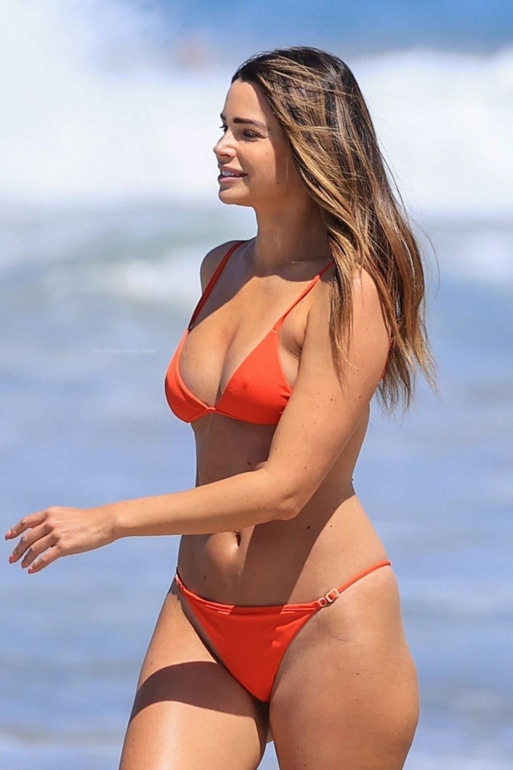 Jennifer Lahmers Sizzles on the Beach in a Sexy Orange Bikini (18 Photos)