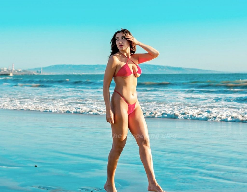 Jewell Farshad Flaunts Her Athletic Body in a Skimpy Red Bikini (8 Photos)