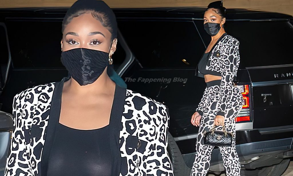 Jordyn Woods See Though (2 Collage Photos)