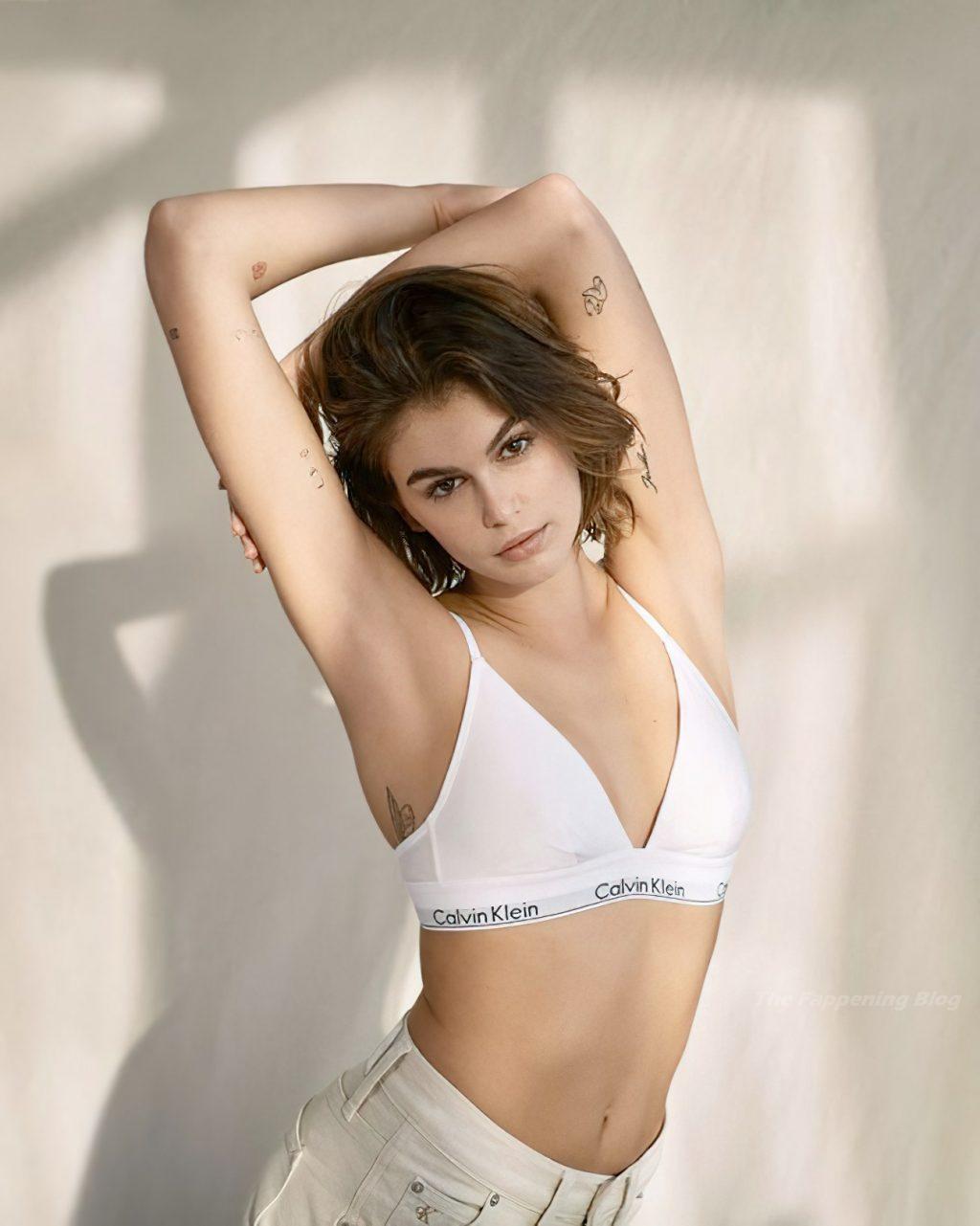 Kaia Gerber Poses Topless for Calvin Klein's New Underwear Campaign (6 Photos)