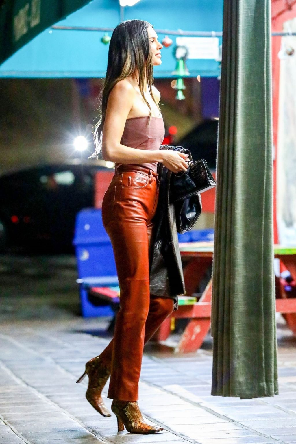 Kendall Jenner Brings Out the Leather as She Grabs Dinner with Derek Blasberg (25 Photos)