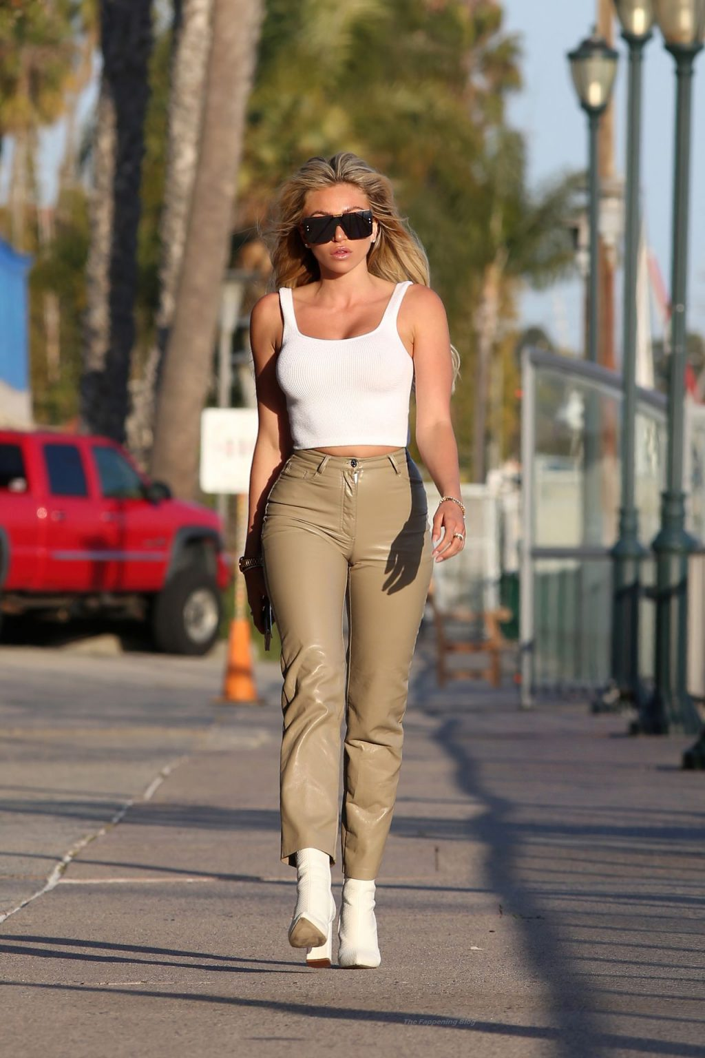 Khloe Terae Commands Attention While Taking a Stroll on The Broad Walk Outside The Ritz Hotel in Marina Del Rey (8 Photos)