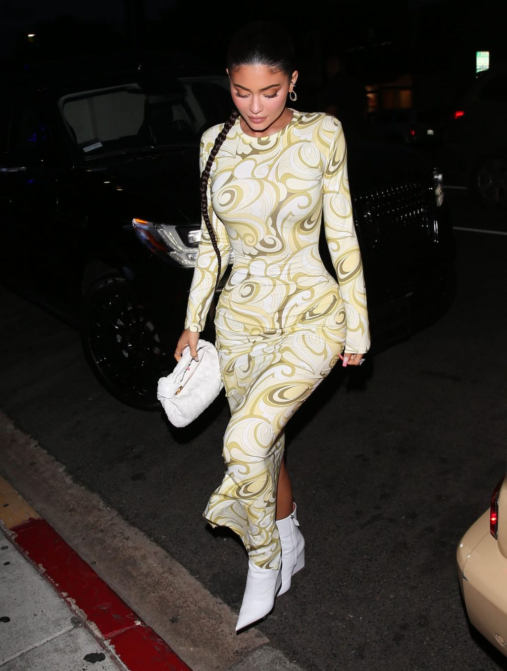 Kylie Jenner Steps Out Wearing a Stunning Dress at Nobu in WeHo (14 Photos)