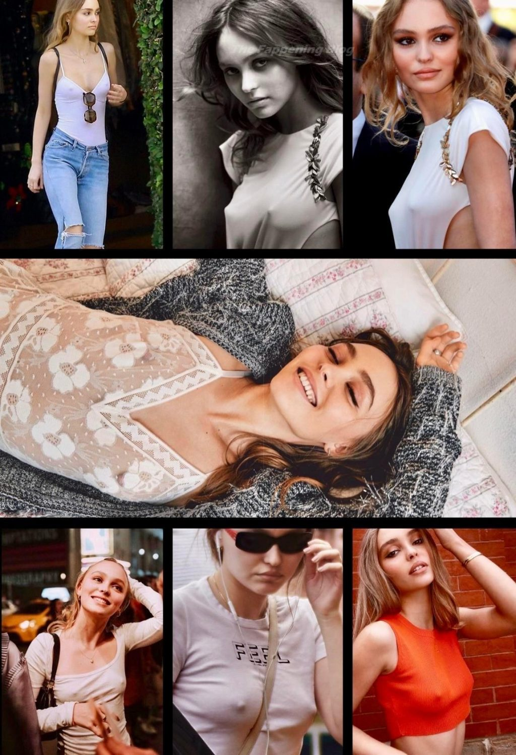 Lily-Rose Depp Hot (1 Collage Photo)