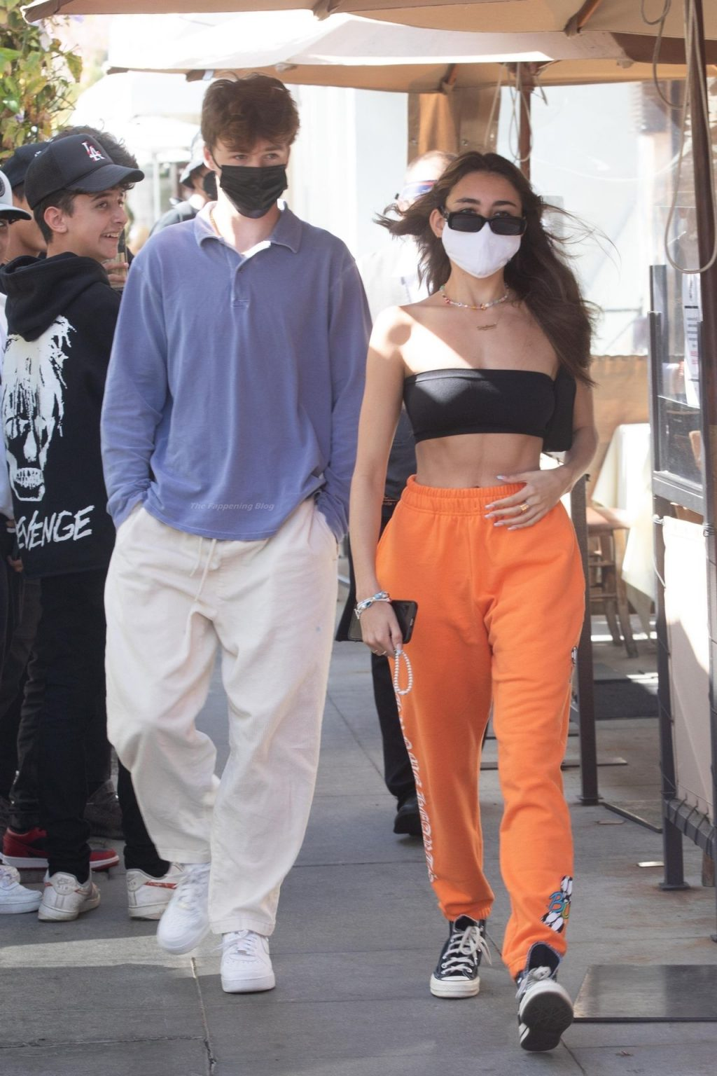 Braless Madison Beer & Nick Austin Leave Il Pastaio After a Lunch Date in Beverly Hills (17 Photos)