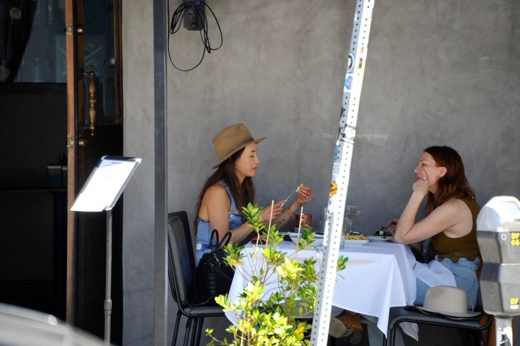 Maggie Q Brings Out the Denim for a Lunch Date at Crossroads in WeHo (17 Photos)