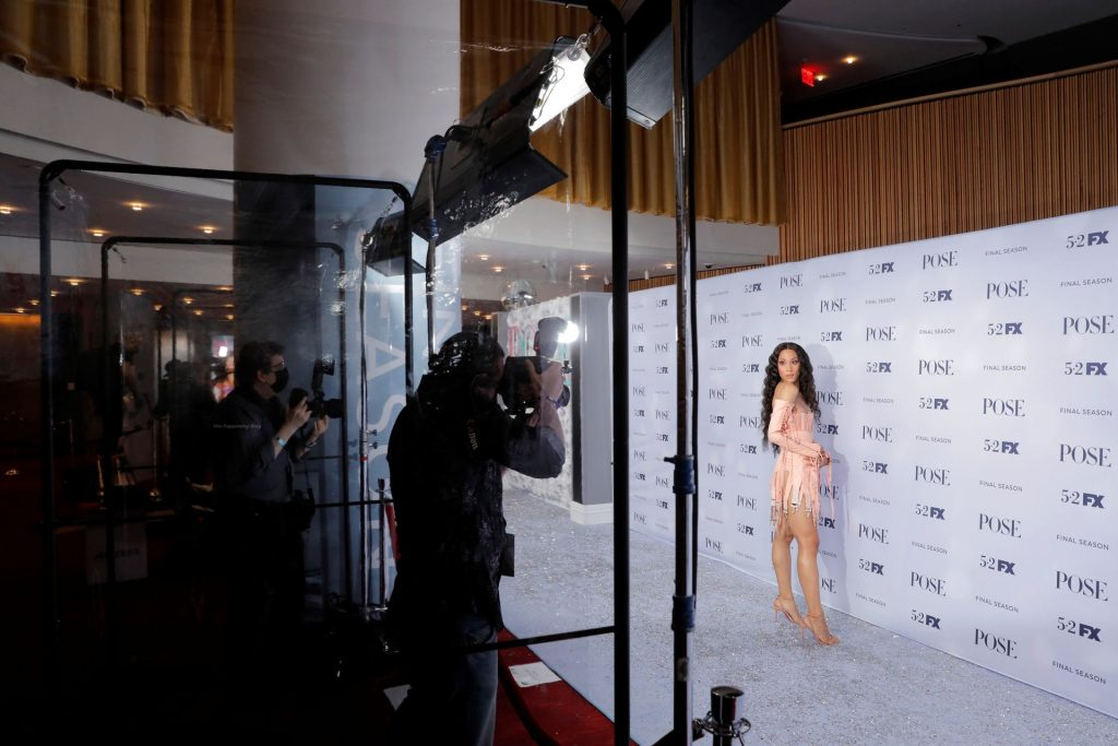 Mj Rodriguez Shows Off Her Sexy Legs and Flashes Areolas at the Event (8 Photos)