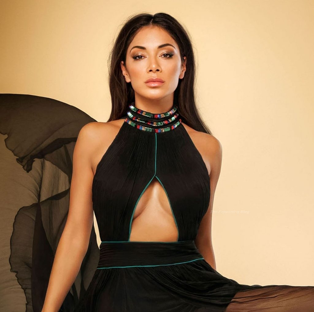 Nicole Scherzinger Simply Oozes Sophistication and Class Surrounded by Golden Luxurious Fabric During a Photoshoot (9 Photos)