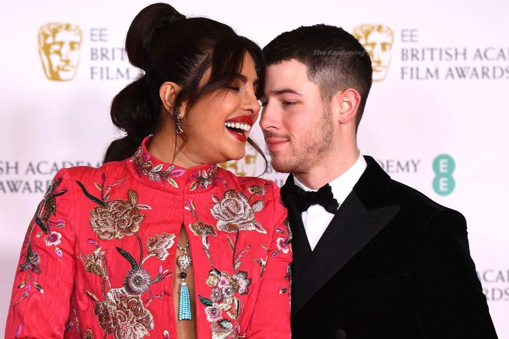 Braless Priyanka Chopra Stuns on the Red Carpet of the EE British Academy Film Awards (35 Photos)