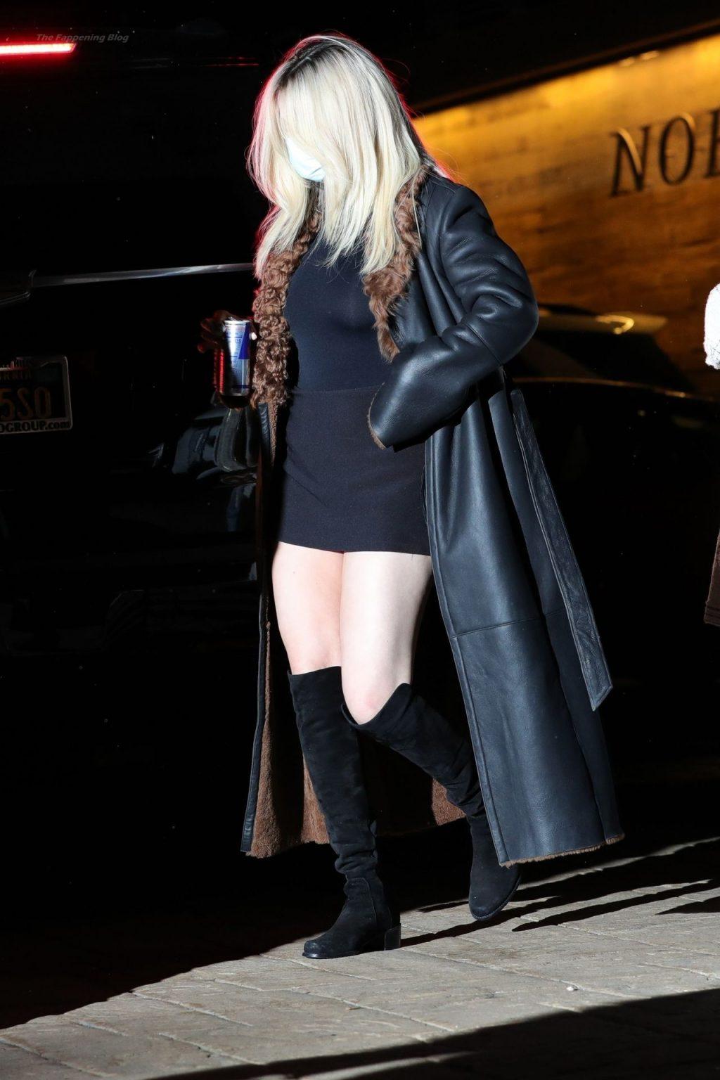 Selena Gomez Shows Off Legs In a Sexy Mini-Dress at Nobu (37 Photos)