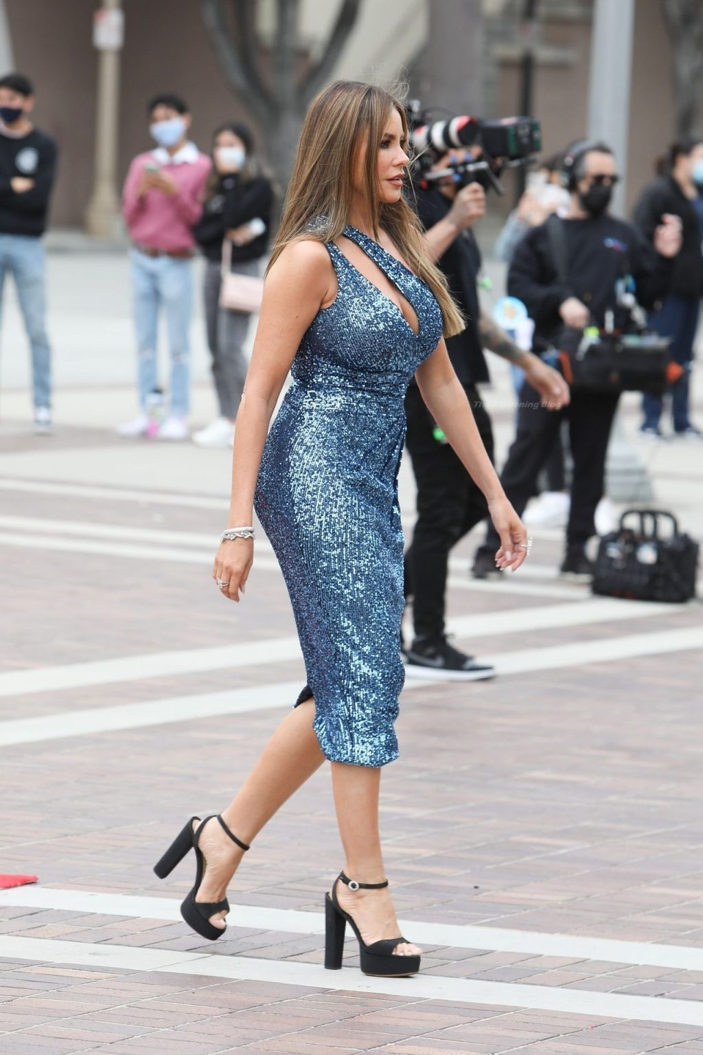 Sofia Vergara is Seen Taping on a Bus for AGT (60 Photos)