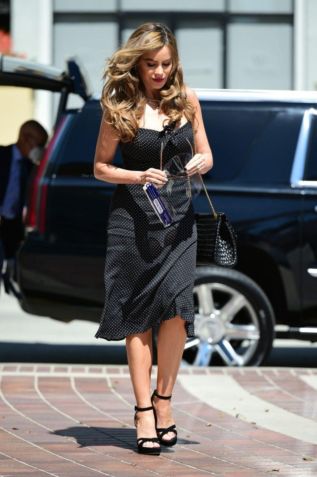 Leggy Sofia Vergara Arrives for America's Got Talent Filming in Pasadena (18 Photos)