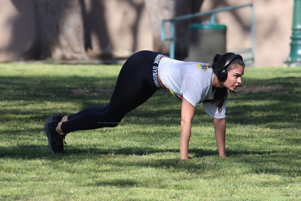 Teodora Djuric Works Out at Hollywood Park in LA (23 Photos)