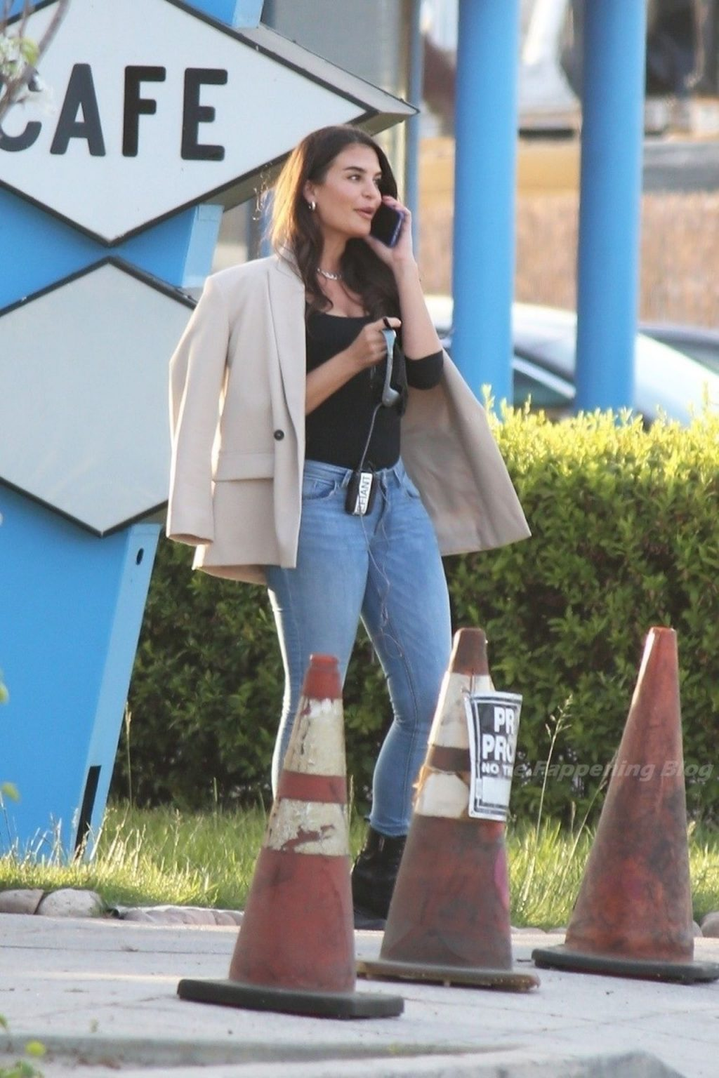 Teodora Djuric Takes a Break From Filming at The Pink Motel and Cadillac Jacks Cafe (18 Photos)