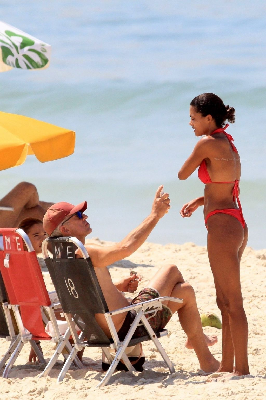 Vincent Cassel & Tina Kunakey Bare Their Hot Bodies at the Beach in Brazil (40 Photos)