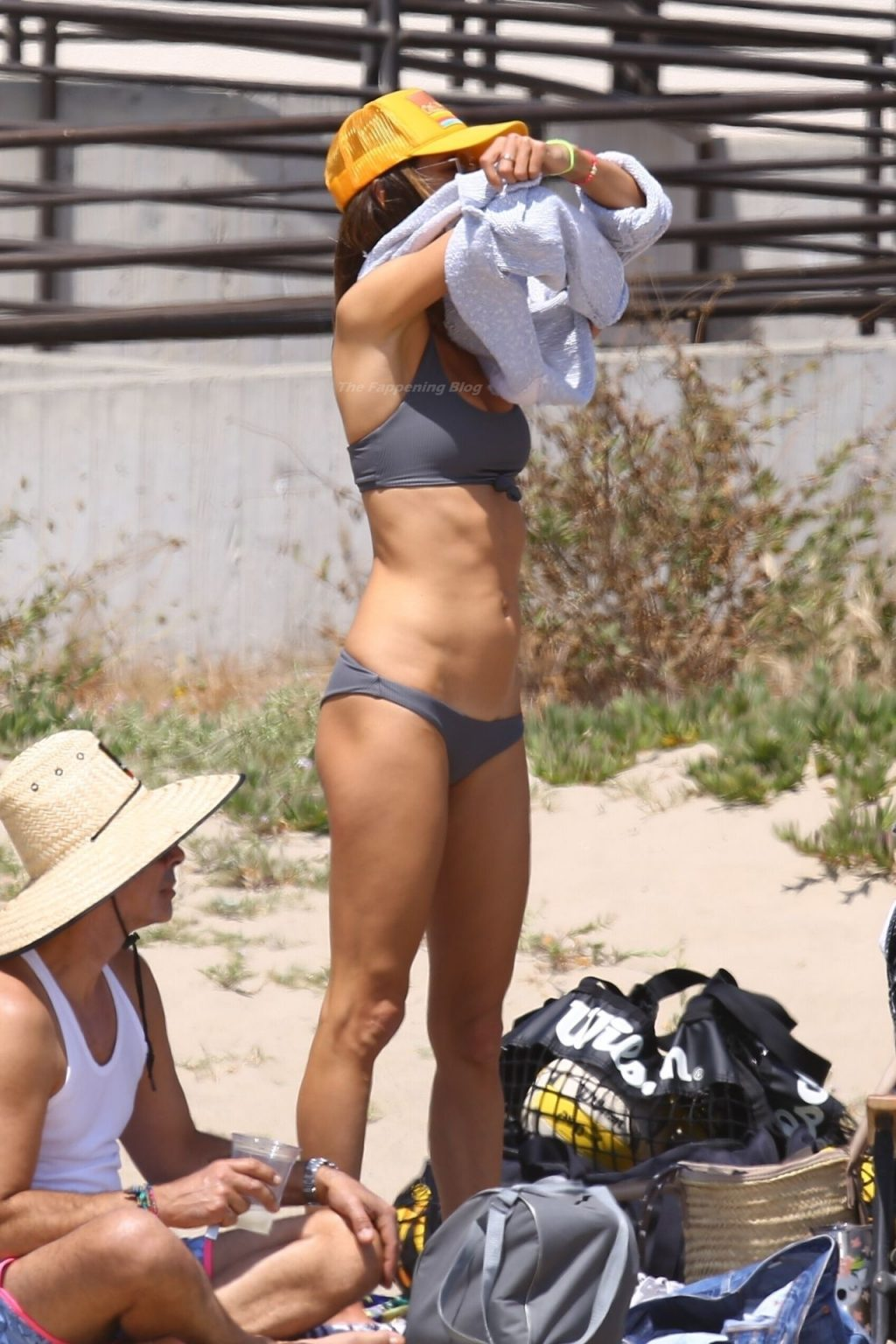 Alessandra Ambrosio Flashes Her Bush on the Beach in Malibu (62 Photos)