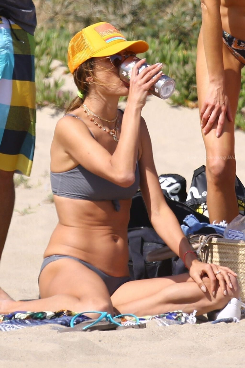 Alessandra Ambrosio Flaunts Her Slim Figure on the Beach with Friends (131 New Photos)