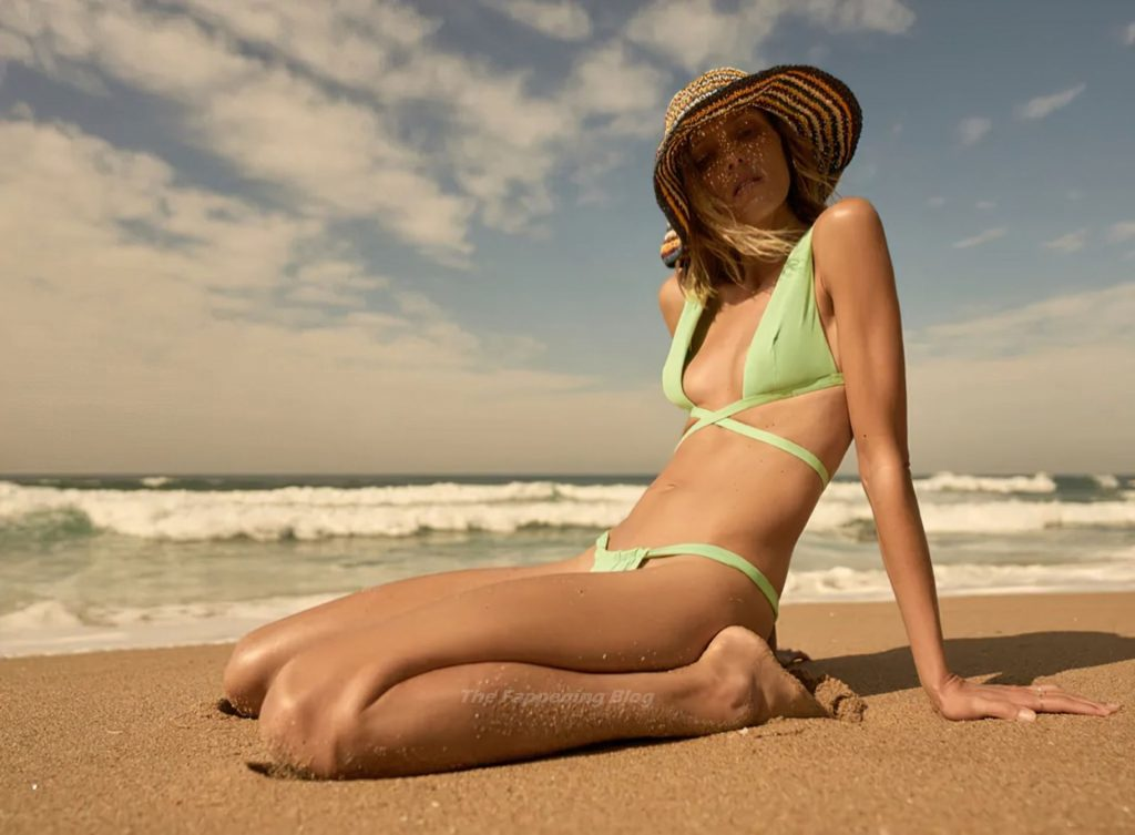 Anja Rubik is Beach Ready in Zara's Swimsuit Designs (11 Photos)