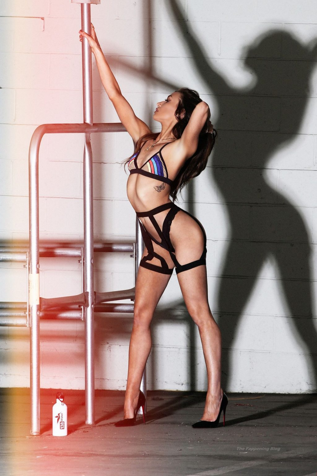 Aubrey Evans is Pictured on the Set of a Sexy 138 Water Brand Shoot (24 Photos)