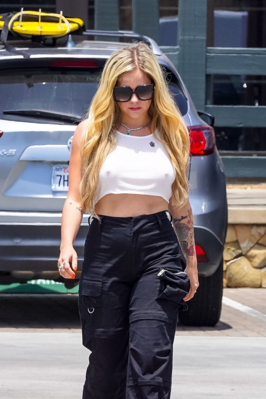 Avril Lavigne is Braless and Giggly in Malibu (35 Photos)