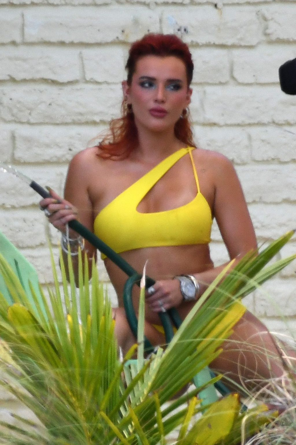 Bella Thorne Poses Seductively with a Water Hose During a Shoot in Miami (80 Photos)