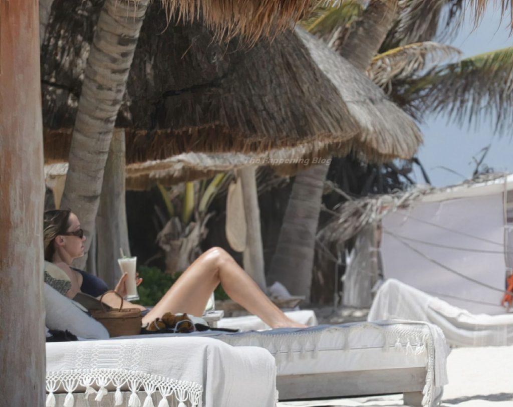 Brandi Cyrus Wears a Black Bikini as She Hits the Beach in Mexico (38 Photos)