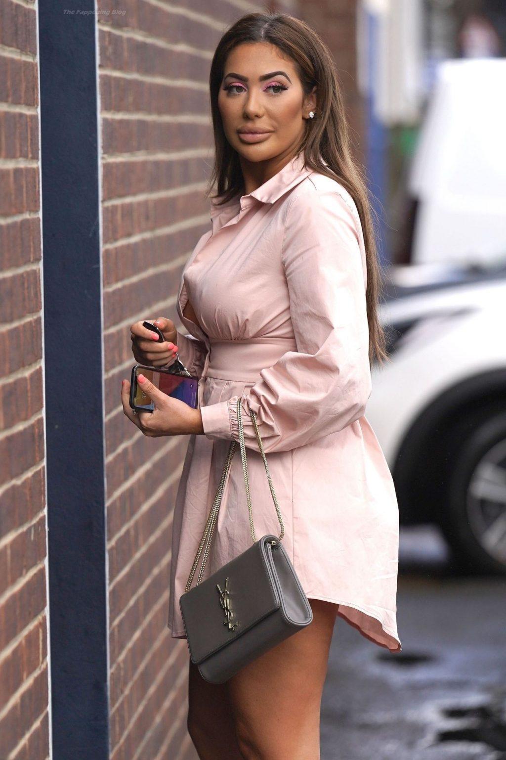 Chloe Ferry Sports Her Thigh-High Dress in Newcastle (34 Photos)