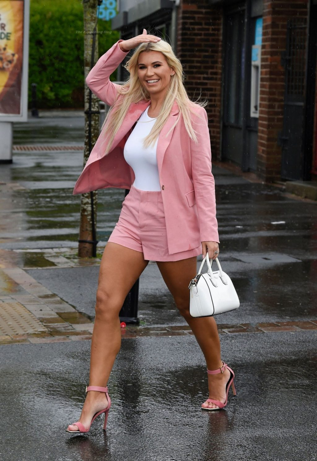 Busty Christine McGuinness Gets Caught in a Huge Downpour at the LAUK Beauty & Education (56 Photos)